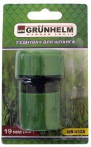 GRUNHELM GR-4328 З'єднання для шланга 3/4 (блістер)